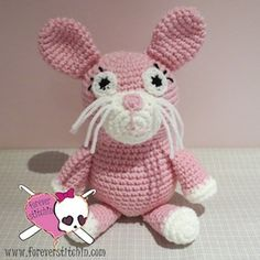 Bennie and Bonnie the Bunnies - $3.50 by Jodi of Forever Stitchin | Bunny Rabbits Part 2 - Animal Crochet Pattern Round Up - Rebeckah's Treasures