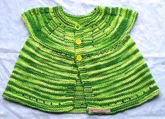 Handknit Baby Cardigan  Baby Girl Clothes  Green by FunkyAirBear