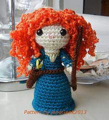 Merida (from Brave) crochet pattern. $2.95