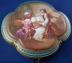 RARE Sevres Porcelain Paris Large Music Scene Scenic Box Porzellan Dose Vieux | eBay