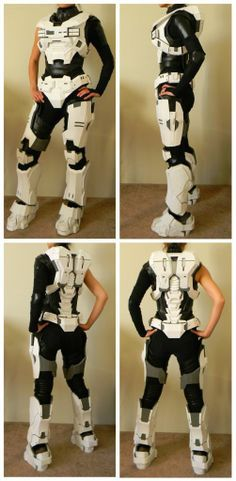 How To Build Your Own HALO Outfit: KAT // I'm not into HALO, but I could see this being useful for video game fans and Mecha genre cosplayers making EVA or Jaegar pilot suits.