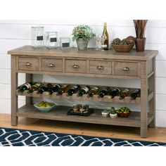 Jofran Slater Mill Wine Rack/Server - Bring French country charm and smart storage into the dining room with the Jofran Slater Mill Wine Rack/Server. As practical as it is ruggedly handsom...