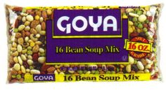 Goya Bean Soup Mix -- Mixed beans for all of the necessary nutrients beans can offer.