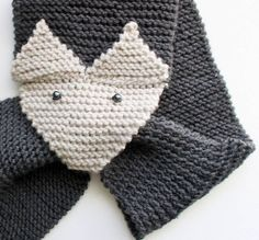 Free Fox Scarf Knitting Pattern by Gina Michele Knitting For Kids, Loom Knitting, Knitting Patterns Free, Free Knitting, Knitting Projects, Baby Knitting, Crochet Patterns, Fox Scarf, Scarf Knit