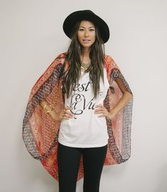 Turn a scarf into a kimono with this hack.