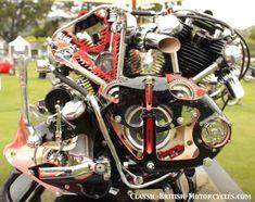 vincent motorcycle engine, vincent v-twin engine, vincent black shadow engine