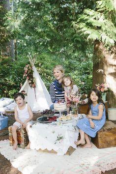 Little Gem Woodland Shoot | theglitterguide.com - photo shoot portrait styling birthday photography