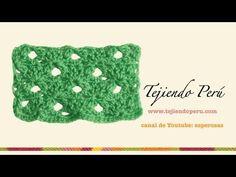 Punto fantasía en crochet # 23: con piñas de 2 varetas - YouTube