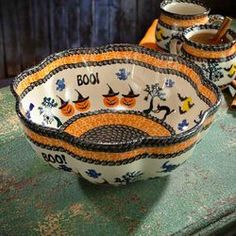 Halloween Polish Pottery Bowl