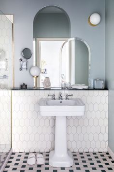 layer your bathroom mirrors