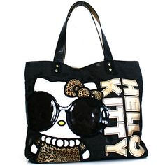 cce2b20078 Hello Kitty Leopard Glasses Tote - Loungefly Inc. - Purses