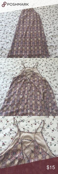 Dry goods dress with detailed back Only worn a few times, great condition Dresses