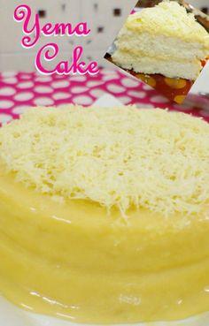 Yema Cake - Mergie Seewald - Yema Cake Yema Cake – The Sweet & Savory Side of Me - Pinoy Dessert, Filipino Desserts, Filipino Recipes, Filipino Food, Ukrainian Recipes, Filipino Dishes, Cuban Recipes, Baking Recipes, Cake Recipes
