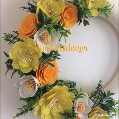 READY TO SHIP! Spring Wreath, Summer Wreath, Mother's Day, Felt Wreath, Yellow Wreath,  Wreaths by juliettesdesigntr on Etsy https://www.etsy.com/listing/590641208/ready-to-ship-spring-wreath-summer