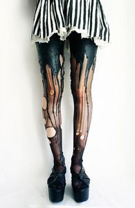 Image of Black on Black Meltingtights    @Brandi Brown, these strike me as something you might like...
