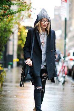 コピーする50冬の服装| StyleCaster