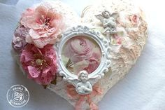 Hello, Pastel altered heart by Juliana Montoya