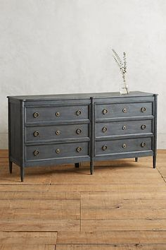 Washed Wood Six-Drawer Dresser $1,298.00 #anthropologie