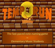 Elementary Music Magic: Tempo Run – a fast-paced multi-media game teaching note naming skills for Elementary Music