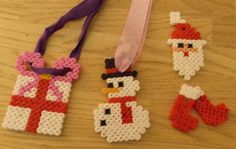 Here are some wonderful Christmas Tree decorations you could make out of Hama Beads.  http://hamabeadpatterns.co.uk/category/christmas-patterns/