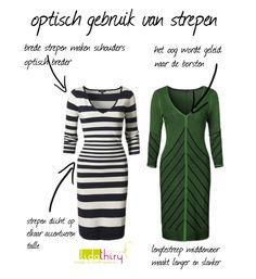 Laat strepen voor je werken! Strepen maken niet altijd dikker. Klik op de foto voor meer details. Kleding www.claudiastrater.nl