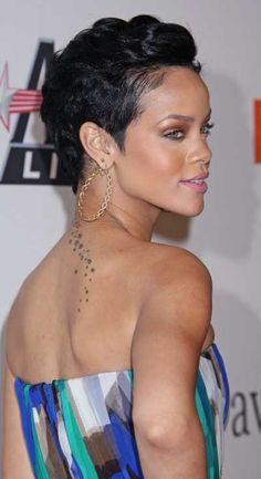 Rihannas short sleek chic hairstyle