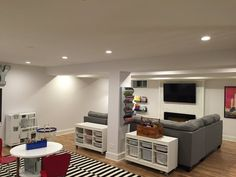Before After Laceys Multifunctional Basement DesignsBasement RenovationsBasement IdeasBasement