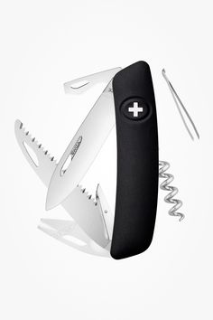 Swiza TT05 Ticktool Sackmesser Lupe, Knifes, Color, Black, Metallic Tops, Swiss Army Knife, Ticks, Blade, Hang In There
