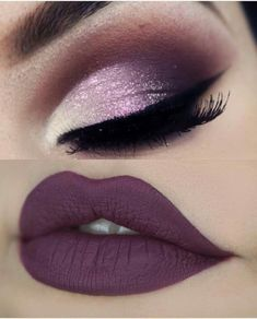 Discover more about makeup, hair and nails Wedding Eye Makeup, Gold Eye Makeup, Smoky Eye Makeup, Edgy Makeup, Eye Makeup Steps, Purple Makeup, Makeup Eye Looks, Glossy Makeup, Eye Makeup Art