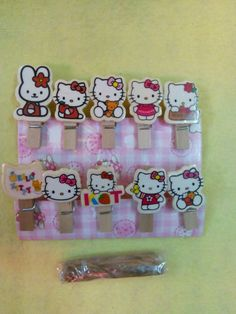 ♛ Shop8 :  HELLO KITTY WOODEN MEMO NOTE CLIP Giveaways Souvenir  | eBay Giveaways, Hello Kitty, Notes, Crafts, Ebay, Report Cards, Manualidades, Notebook, Handmade Crafts