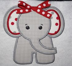elephant applique picture | Items similar to Bama Girl Elephant Applique Shirt or Onesie on Etsy ...