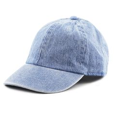 3e40132254c7f THE HAT DEPOT Kids Washed Low Profile Cotton and Denim Baseball Cap Light  Denim