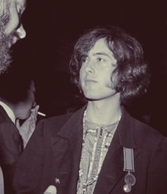 YARdbiRds guitarist, Jimmy Page with Peter Grant.