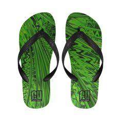 Rain Green Unisex Flip Flops