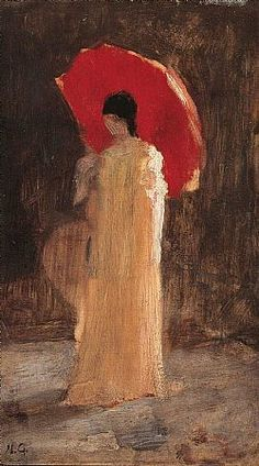 Woman with red umbrella_Nikolaos Gyzis Classical Period, Classical Art, Art And Illustration, Greek Paintings, Hellenistic Period, Red Umbrella, Social Art, Minoan, Greek Art