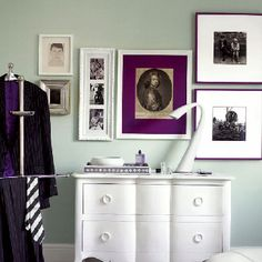 eggplant on mint (perfect guest room)