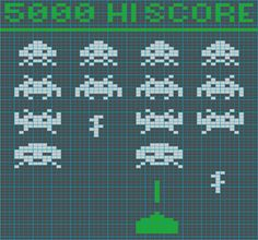 Craftster Photo Hosting - Space Invaders Tote Bag chart - Powered by PhotoPost