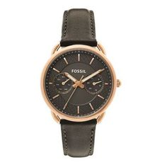 Shop for Fossil Women's Tailor Multi-Function Grey Dial Grey Leather Watch. Get free delivery On EVERYTHING* Overstock - Your Online Watches Store! Casual Watches, Cool Watches, Best Watch Brands, Online Watch Store, Fossil Watches, Grey Leather, Stainless Steel Case, Quartz Watch, Jewelry Watches