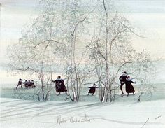 Winter Wonderland by P. Buckley Moss - CV Art and Frame
