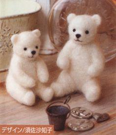 Japanese Wool Needle Felting Craft Kit -  Polar Bear. $14.00, via Etsy.