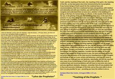 Truth› and the ‹teaching of the truth›, the ‹teaching of the spirit›, the ‹teaching of the life›, as has been given since time immemorial by the true prophets.   If you human beings of Earth search for the creational laws and recommendations, that form creational harmony and goodness, with intellect and rationality and with your intuition, you will find them everywhere, you will recognise and understand them at every turn, whether in the bubbling of a spring, in the face of a human being, in…