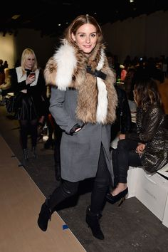 Olivia Palermo - Front Row At Zimmermann Fall 2015 - Mercedes-Benz Fashion Week Fall 2015 #nyfw #aw15