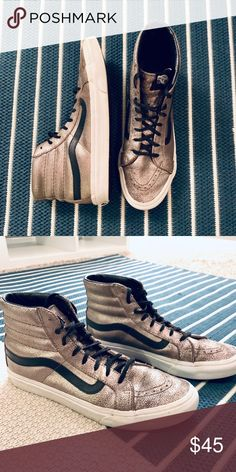 eba0e27bd5 Limited Edition Gold Hightop Vans Only worn a handful of times. Vans Shoes  Sneakers High