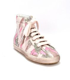 Pink/Floral Print Leather Sneakers 20% OFF- Code PINTEREST20