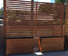 Timber privacy divider screen/ trellis with by TEDandCOOKS on Etsy