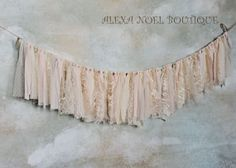 Very Vintage soft pink rag tie garland by AlexaNoelBoutique, $30.00