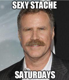 This weeks featured Sexy Stache Saturday Gentleman is Will Ferrell rocking the comic stache #beard #beards #beardoil #beardbalm #bearded #beardlife #beardnation #beardgang #barber #beardenvy