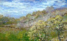 Claude Monet - Bomen in bloei