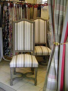 chaise peint et patine