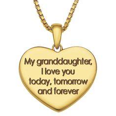 i love my granddaughter | My Granddaughter, I'll Love You Forever Diamond Pendant - The Danbury ...